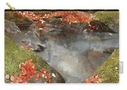 Digital Watercolor Painting Of Blurred Water Detail With Rocks N Carry-all Pouch