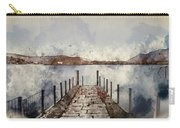 Digital Watercolor Painting Of Landscape Image Of Derwent Water  Carry-all Pouch