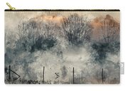 Digital Watercolor Painting Of Panorama Landscape Of Lake In Mis Carry-all Pouch