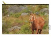 Digital Watercolor Painting Of Stunning Image Of Wild Pony In Sn Carry-all Pouch