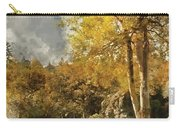 Digital Watercolor Painting Of Stunning Vibrant Autumn Forest La Carry-all Pouch