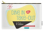 Dine In Kitchen - Art By Linda Woods Carry-all Pouch