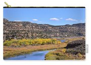 Distant Boat On The San Juan River In Fall Carry-all Pouch