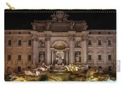 Ditrevi Fountain At Night Carry-all Pouch by Jaroslaw Blaminsky