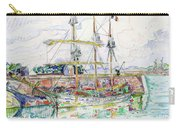 Docks At Saint Malo - Digital Remastered Edition Carry-all Pouch