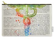 Doctor Of Pharmacy Gift Idea With Caduceus Illustration 03 Carry-all Pouch