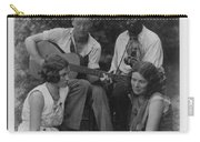 Doris Ulmann   1882-1934  Four Musicians Including A Man Playing A Guitar, A Man Playing A Violin Carry-all Pouch