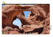 Double Arch In Utah Park During Summer Time  Carry-all Pouch