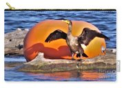 Double Crested Cormorant    Drying Wings         September        Indiana Carry-all Pouch
