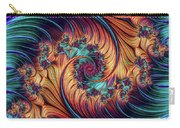 Double Fractal Spiral Carry-all Pouch