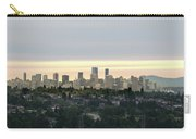 Downtown Sunset Carry-all Pouch by Juan Contreras