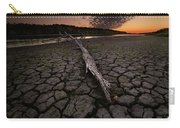 Dry Banks Of Rainy River After Sunset Carry-all Pouch