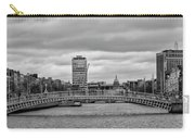 Dublin Ireland - Ha Penny Bridge In Black And White Carry-all Pouch
