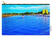 Dunkirk New York Harbor With Neon Effect By Rose Santucisofranko Carry-all Pouch by Rose Santuci-Sofranko
