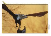 Eagle Flying Off Carry-all Pouch by Steven Santamour