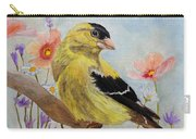 Early Spring American Goldfinch Carry-all Pouch by Angeles M Pomata
