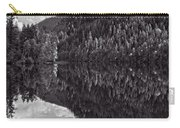 Echo Lake Reflection Black And White Carry-all Pouch