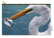 Egret Feeding  Carry-all Pouch