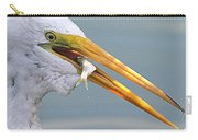Egret Finishing Lunch  Carry-all Pouch