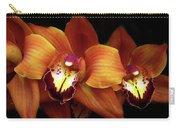 Orange Cimbidium Orchid Carry-all Pouch
