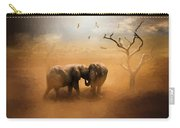 Elephants At Sunset 072 - Painting Carry-all Pouch
