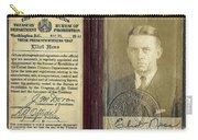 Eliot Ness Treasury Id Carry-all Pouch
