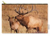 Elk And Mate In Rocky Mountain Meadow Carry-all Pouch