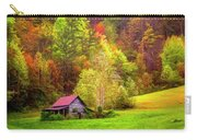 Embraced In Autumn Color Painting Carry-all Pouch