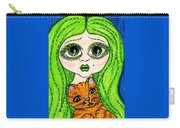 Emo Girl Green Carry-all Pouch