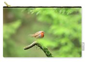 English Robin Erithacus Rubecula Carry-all Pouch