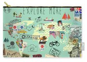 Exlore More World Map Carry-all Pouch