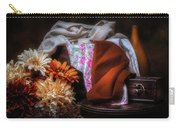 Fabric And Flowers Carry-all Pouch