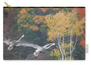 Fall Swan Landing - Vertical Carry-all Pouch