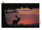 Fallow Stag At Sunset Carry-all Pouch