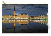 Fantastic Stockholm City Hall And Gamla Stan Reflection With Clouds Carry-all Pouch