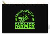 Farmer Shirt Worlds Greatest Farmer Gift Tee Carry-all Pouch