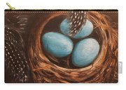 Feathers And Eggs Carry-all Pouch