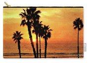 Fiery California Sunset Oceanside Beach Carry-all Pouch