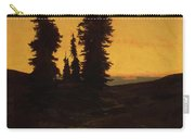 Fir Trees At Sunset Carry-all Pouch