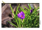 First Crocus Of 2019 Carry-all Pouch
