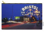 First Night Of The Bristol Sign With New Led Bulbs Carry-all Pouch