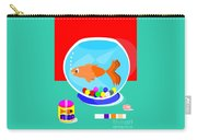 Fish Tank With Fish And Complete Kit Carry-all Pouch