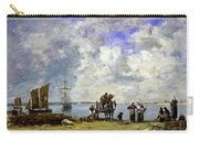Fishermens Wives At The Seaside - Digital Remastered Edition Carry-all Pouch