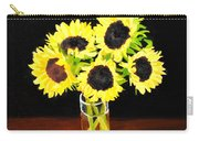 Five Sunflowers Carry-all Pouch
