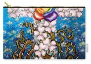 Floral Cross Rainbow Rose Carry-all Pouch