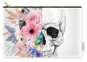 Floral Skull 2 Carry-all Pouch