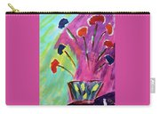 Flowers Gone Wild Carry-all Pouch by Deborah Boyd