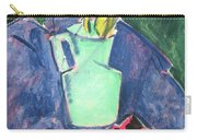 Flowers In A Green Vase On Purple Cloth Carry-all Pouch