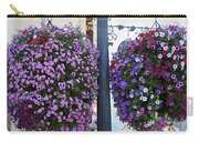 Flowers In Balance Carry-all Pouch by Mae Wertz