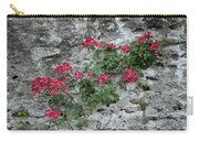 Flowers On Stone Carry-all Pouch